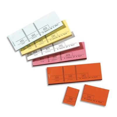 Bloc de tickets passe-partout Elve - blanc - 100 feuillets - 5 x 15 cm (photo)