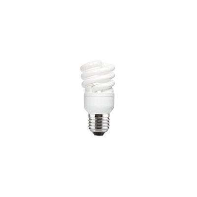 Ampoule Fluocompacte - 2 tubes spirales - culot E27 - 12W - 715 lumens - 2700K (photo)