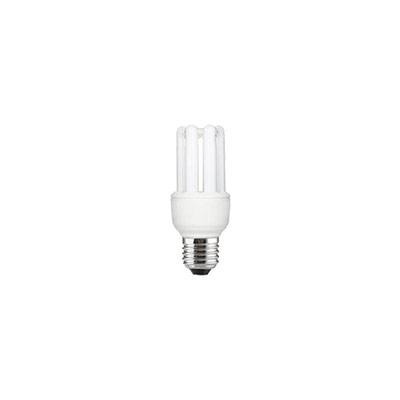 Ampoule Fluocompacte - 3 tubes - culot E27 - 9W - 470 lumens - 2700K (photo)