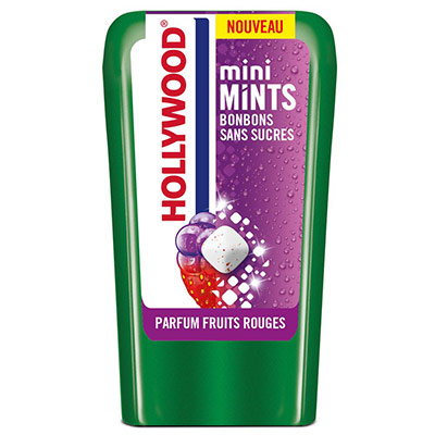 Mini Mints - bonbons sans sucre - parfum fruits rouges - boîte de 12,5 g - lot de 10 boîtes + 2 gratuites (photo)