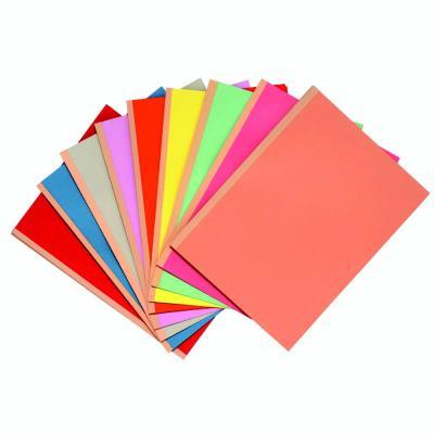 Forever - Chemises à soufflet dos toilé 3 cm, capacité 300 feuilles - Carte 320 g/m2 - 24 x 32 cm, Rouge (paquet 25 unités)
