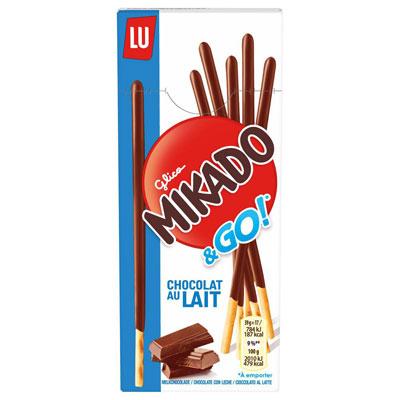 Mikado Pocket - Gâteaux au chocolat au lait - paquet de 39g - carton 24 x 39 grammes (photo)