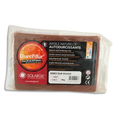 Pâte à modeler autodurcissante Durci'Dur - rouge - pain de 1 kg (photo)