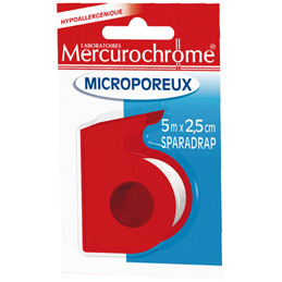 Sparadrap microporeux Mercurochrome - 5mx2,5cm (photo)