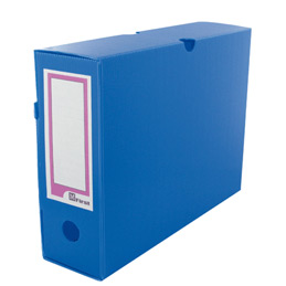 Boîtes à archives Extendos - polypropylène alvéolé - dos 10 cm - format L33xH25cm - bleu - paquet de 10