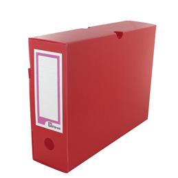 Boîtes à archives Extendos - polypropylène alévolé - dos 10 cm - format L34xH25cm - rouge - paquet de 10