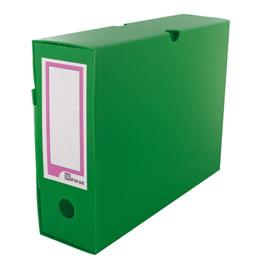 Boîtes à archives Extendos - polypropylène alvéolé - dos 10 cm - format L34xH25cm - vert - paquet de 10
