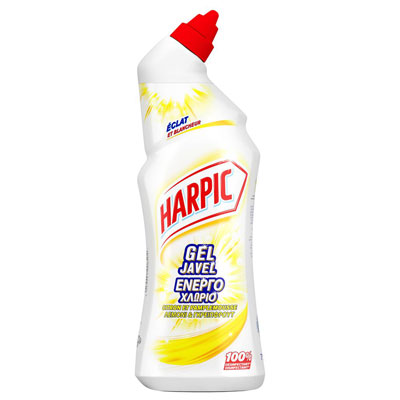 Gel javel WC désinfectant Harpic Citron et Pamplemousse - 2 flacons de 750 ml + 1 OFFERT - paquet 3 unités (photo)