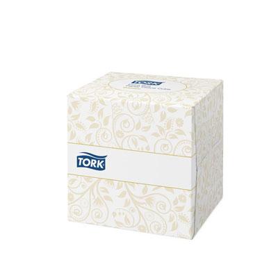 Mouchoirs double épaisseur extra-doux Premium - blanc - 2 boîtes cubiques de 100 feuilles + 1 boîte OFFERTE - paquet 3 unités (photo)