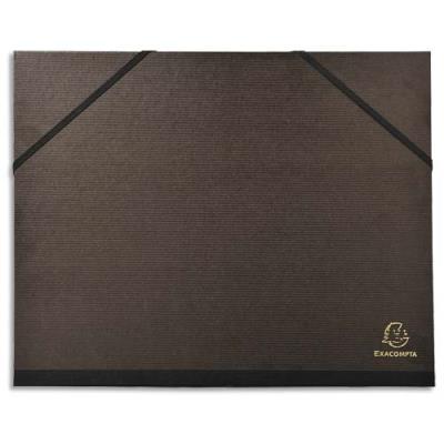 Carton à dessin 26 x 33 cm noir avec élastiques Exacompta (photo)