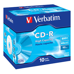 Verbatim DataLife - 10 x CD-R - 800 Mo ( 90 min ) - boîtier CD (photo)