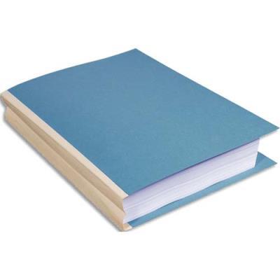 Chemise à soufflet exacompta forever dos toilé carte 320g recyclée 24 x 32 cm bleu clair paquet de 25