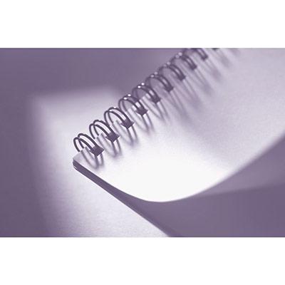 Baguettes de reliure métal - diamètre 12,7 mm blanc - boîte de 100 (photo)