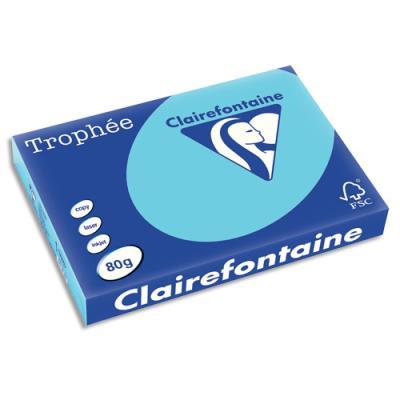 Papier Trophée - bleu alizé - teinte vive - 80 g - A3 - ramette de 500 feuilles