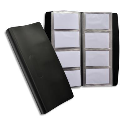 Porte cartes de visite Elba tout terrains - 240 cartes - noir