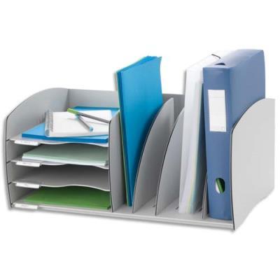 Mini organizer de bureau Paperflow - gris (photo)