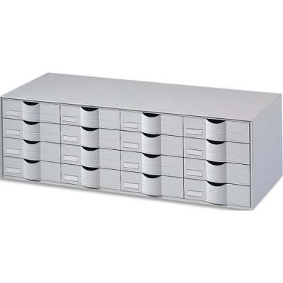 Bloc classeur 16 tiroirs Fastpaperflow - gris (photo)