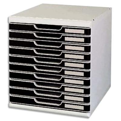 Module de classement Modulo - 10 tiroirs - gris/bleu