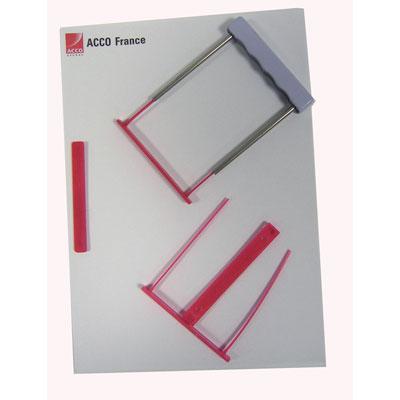 Relieurs de documents A4 Capiclass rouge - lot de 50 - paquet 50 unités (photo)