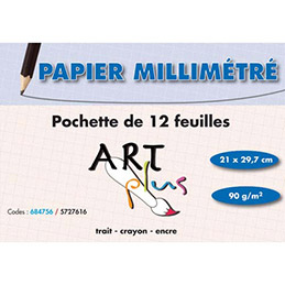ART P/12F PAP MILIMETRE A4 90G 684756 (photo)