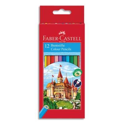 Etui boite château de 12 crayons de couleur (photo)