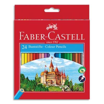 Etui boite château de 24 crayons de couleur (photo)