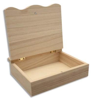 Boîte en bois à décorer format 150 x 150 x 40 mm (photo)
