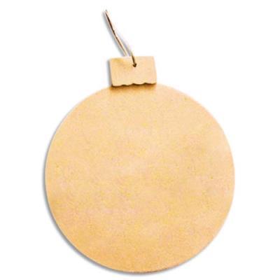 Lot de 10 médaillons forme boule en bois à décorer diamètre 10 cm (photo)
