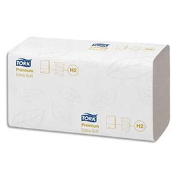 Essuie mains Tork Xpress extra doux - pliage en M - 21.2 x 34 cm - colis de 21 paquets de 100 feuilles (photo)