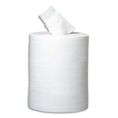 Bobine d'essuie mains économique  - 450 formats 19,5 x 30 cm - 2 plis blanc - lot de 6