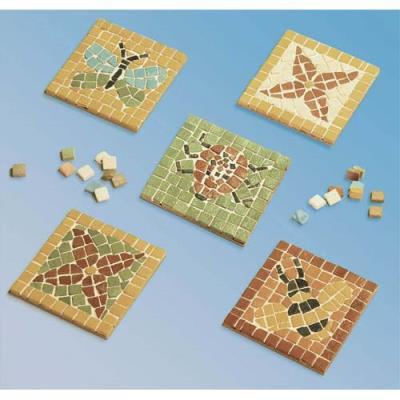 Kit de 12 sous-verre 9 X 9 cm à décorer avec mosaïque 1 x 1 cm assortie fournie (photo)