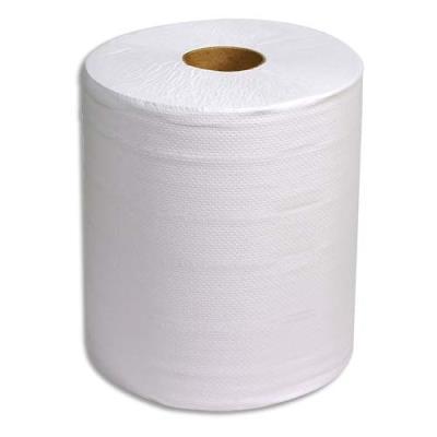 Lot de 2 bobines d'essuyage blanches - 800 formats prédécoupés - 240 mètres - dim 26 x 30 cm
