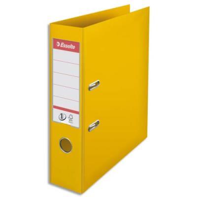 Classeur à levier N°1 Power Esselte - dos 7,5 cm - polypropylène - jaune