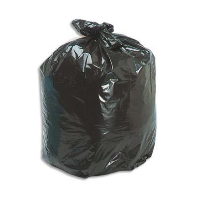 Sacs poubelles - 50 L - noir - 35 microns - lot de 500 sacs (photo)
