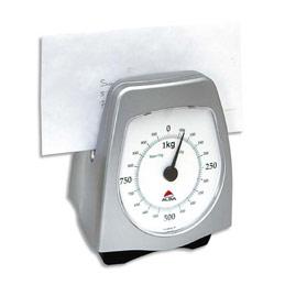 Pèse lettres mécanique Alba 1kg - gris métal (photo)