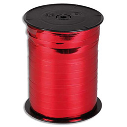Bobine bolduc de comptoir 250mx10mm coloris rouge brillant (photo)