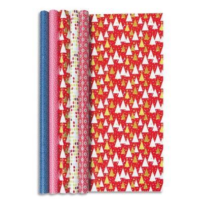 paquet de 10 rouleaux de papier cadeau clairefontaine alliance 2x0 7m assortis achat pas cher. Black Bedroom Furniture Sets. Home Design Ideas