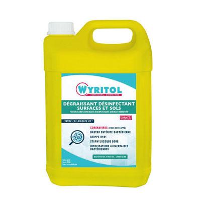 Dégraissant désinfectant surfaces et sols - bidon 5L (photo)