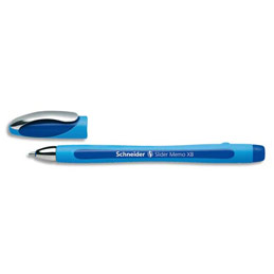 Stylo bille Slider Memo XB - pointe large - corps caoutchouc confort - encre bleue