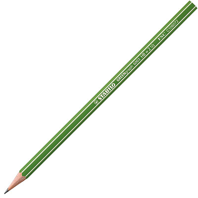 Crayon graphite GreenGraph 6003 mine HB corps hexagonal vert (paquet 12 unités) (photo)