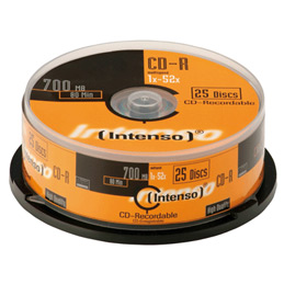 CD-R Intenso - 700 Mo - 80 Minutes - lot de 25 (photo)