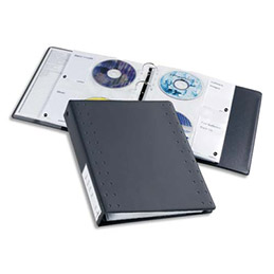 Jeu de 5 pochettes plastifiées pour CD/DVD - capacité 5 x 4 CD/DVD (photo)