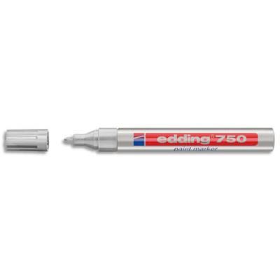 Marqueur Edding - peinture encre permanente argent pour toutes surfaces - pointe moyenne