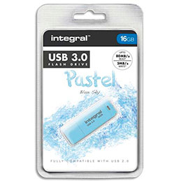 Clé USB 3.0 Integral Pastel Bleue 16Go (photo)