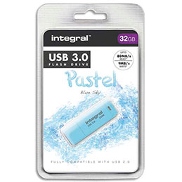 Clé USB 3.0 Integral Pastel Bleue 32Go (photo)