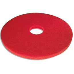 Disque rouge pour entretien spray - diamètre 432 mm - pour monobrosse - lot de 5 (photo)