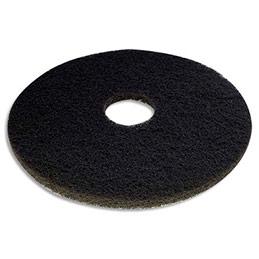 Disque noir pour décapage - diamètre 432 mm - pour monobrosse - lot de 5 (photo)
