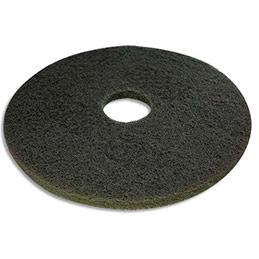 Disque vert pour nettoyage courant - diamètre 432 mm - pour monobrosse - lot de 5 (photo)