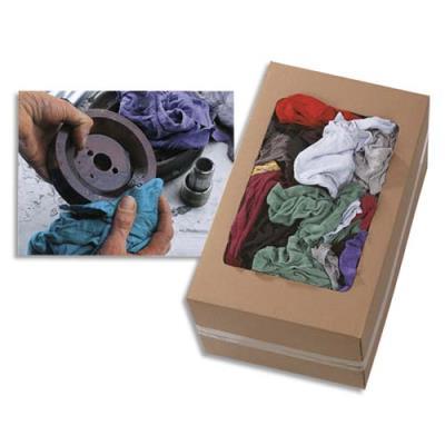 Chiffon couleur 100% coton fin - polyvalent et non pelucheux - 10 kg (environ 100 chiffons) (photo)