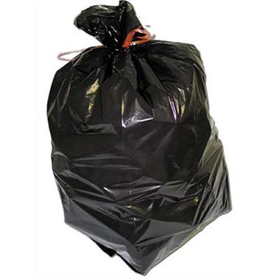 Sacs poubelles fins - 130 L - noir - 20 microns - lot de 200 sacs (photo)